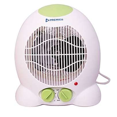 Fan Heater With 2 Heat Settings & Cool Blow - White And Green