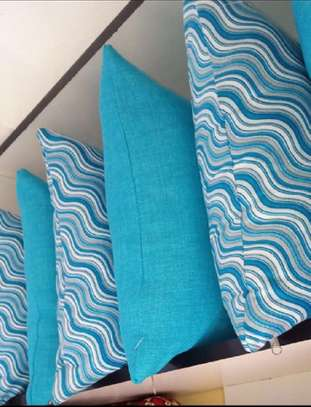 Throw Pillows blue patterned image 1