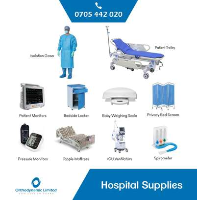 1 Crank Manual Hospital Bed  - single fold / function image 11