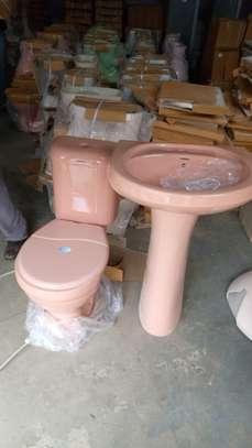 Close couple toilet & sink set image 3