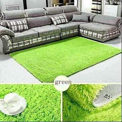 green fluffy carpet