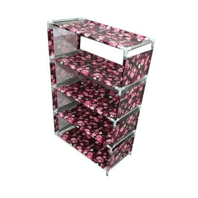 5 Tiers jungle green Shoe Rack With Dustproof Cover Closet Shoe Storage Cabinet Organizer - Maroon