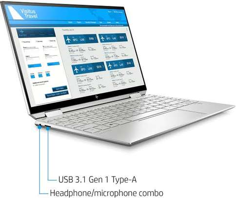 """HP Spectre X360 2-In-1 13.3"""" 4K Ultra HD Touch-Screen Laptop - Intel Core I5 - 8GB Memory - 256GB SSD - Natural Silver image 1"""