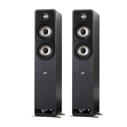The NEW Polk Audio S50e High Resolution Home Theatre Tower Speakers, Pair image 1