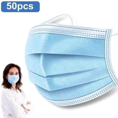 50 pcs box 3 ply Face masks surgical masks image 1