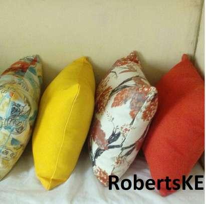 yellow flowery throw pillows image 1