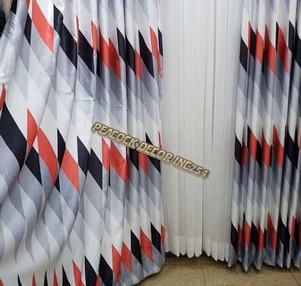 Elegant printed curtains and sheers image 4