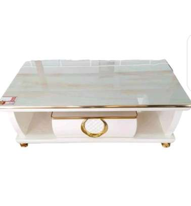 Marble glass table image 1