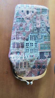 Vintage Tapestry Houses Kiss-Lock Coin Purse image 2