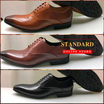 Men's Official Italian Leather Shoes with rubber sole image 15