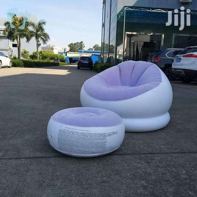 Inflatable Seat With Foot Rest Plus Pump image 1