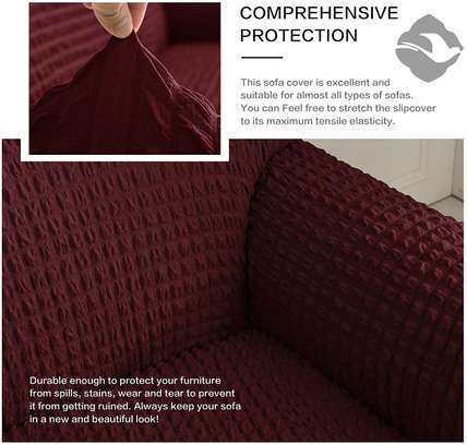7 seater maroon sofa covers image 1