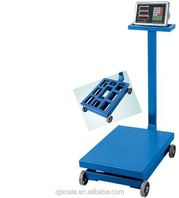 r 600kg Platform Scale Stainless Iron Plate Heavy Duty Frame,SS Indicator Dual LED Display Strong Back Grill image 1