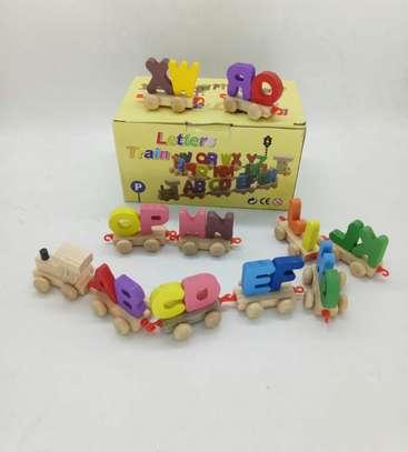 Children Kids Learning Alphabet Train Wheeled Toy image 3