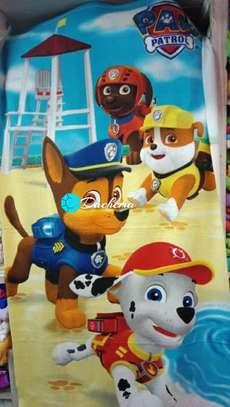 paw paw patrol kids bathing towels image 1