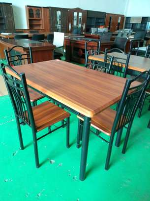 4seaters wooden dining table image 1