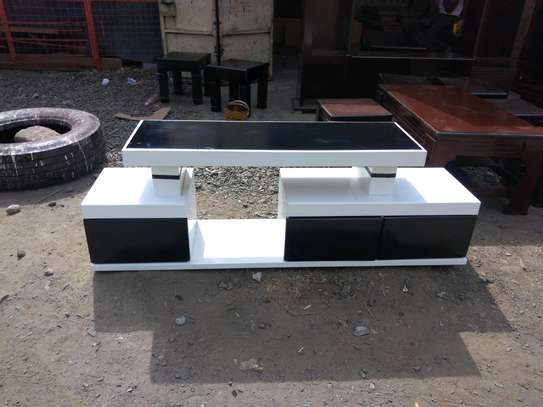 TV stand white image 1