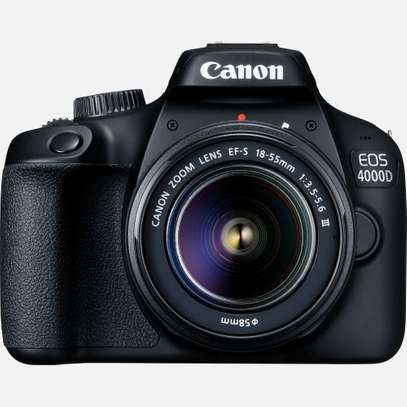 Canon EOS 4000D DSLR Camera and EF-S 18-55 mm image 1