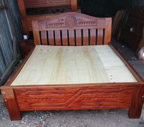Bed 5 x 6 Mahogany beds . Pay on Delivery!!! Same day Delivery!!! image 1