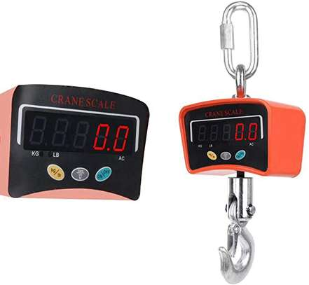 500KG/1100 LBS Digital Crane Scale 110V/220V Heavy Duty Industrial Hanging Scale Electronic Weighing Balance Tools W/LED Display image 1