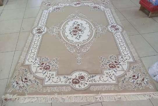 Persian carpets beige flowery image 1