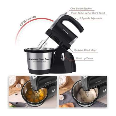 Hoffmans 5 speed stand hand mixer 1000watts Automatic rotation 3L image 3
