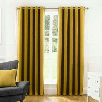 Heavy Gold and black sport curtains image 1