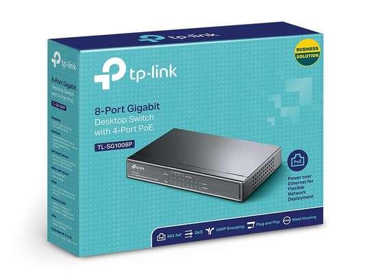Tp Link 8 port Gigabit Poe switch tl-sg1008p image 1