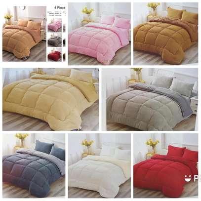 4pcs woolen Duvet's set@ksh.4999 image 1
