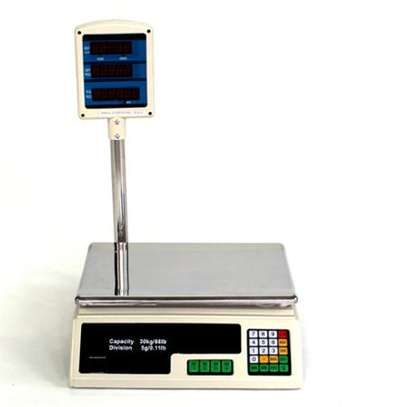 Scale Food Price Digital Computing Produce Meat Deli Weight Counting 60LB ACS-30 image 1