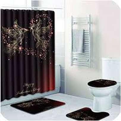 curtain bathroom mat sets image 1