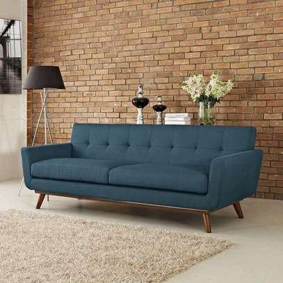 Blue three seater sofa for sale in Nairobi Kenya/Best Furniture stores in Nairobi Kenya/Modern sofas image 1