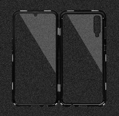 Magnetic Double-sided 360 Full Protection Glass Case for Samsung A70 A60 A50 A40 A30 image 1