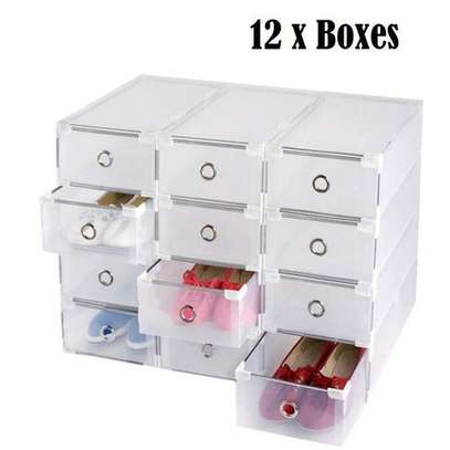 Shoes Storage Boxes Shelf Home Organizer - 12 Boxes image 1
