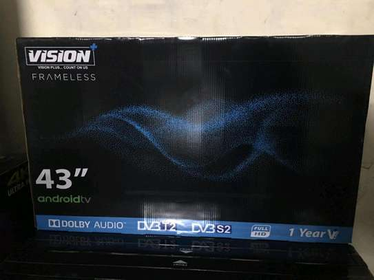 Vision 43inches android,frameless image 1