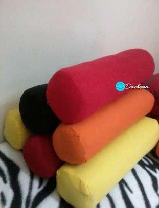 plain color sausage throw pillows image 1