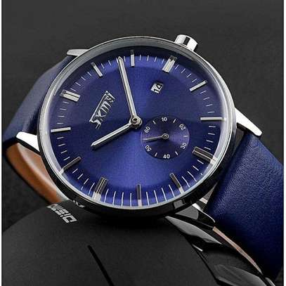 SKMEI Luxury Leather Strap Business Watch 9083 image 2