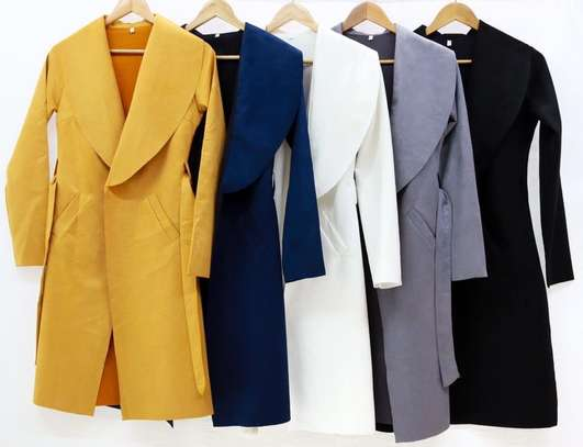 Monochrome suede trench coats image 1
