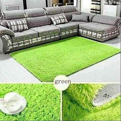 green fluffy carpet image 1
