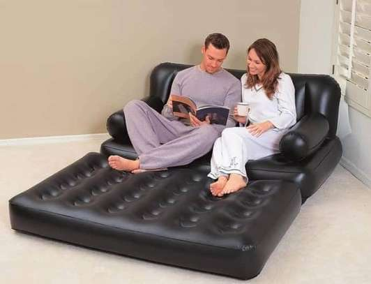 2 seater inflatable pullout sofa image 1