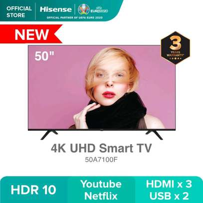 50A7100F Hisense 50 Inch 4K UHD Frameless Smart LED TV With Bluetooth(2020 Model) -  image 1