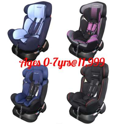 Reclining baby car seat