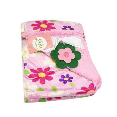Just To You Super Soft Baby Double Layer Receiving Blanket / Shawl - Pink image 1