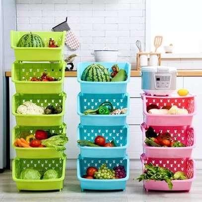 4 Tier Plastic Corner Organizer image 1