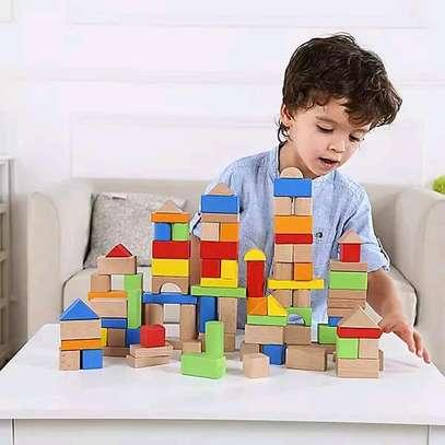 Kids 100 Wooden Blocks image 2