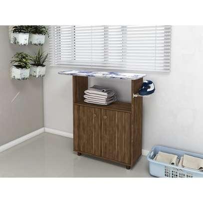 Ironing Board Cabinet with 2 Doors - Tecno Mobili , Walnut