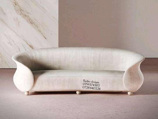 Curved sofa/Modern sofas/three seater sofas/beige sofas image 1