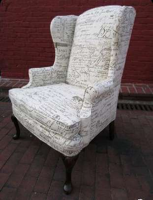 wingback sofas/English print sofas/one seater sofa/wingback chair/king chair image 1