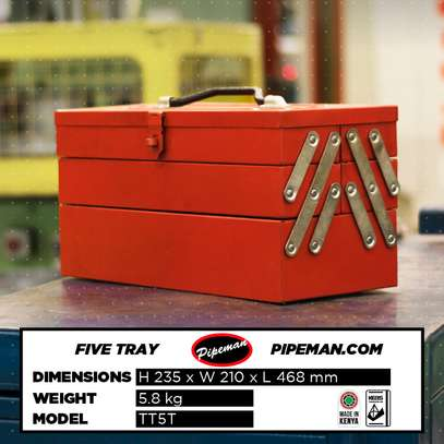 Pipeman, 5 Tray Toolbox image 3
