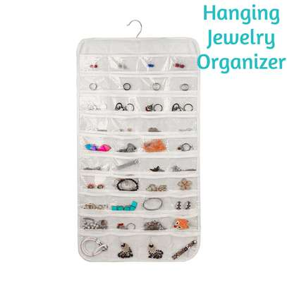 80-pocket Hanging Jewelry Organizer image 1
